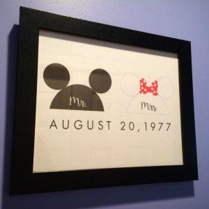 mouse ears disney art print
