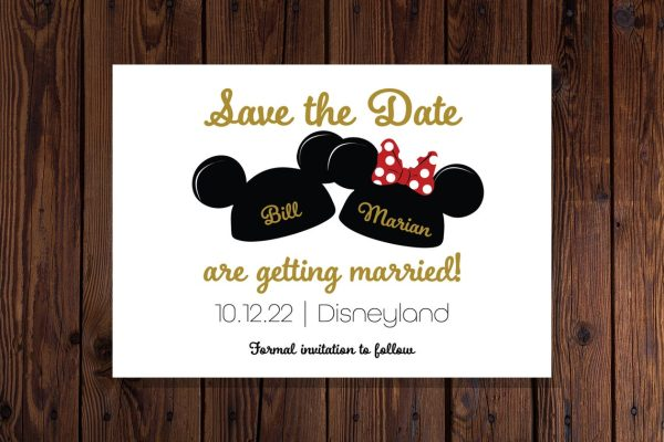 Disney Mouseketeer Save the Date