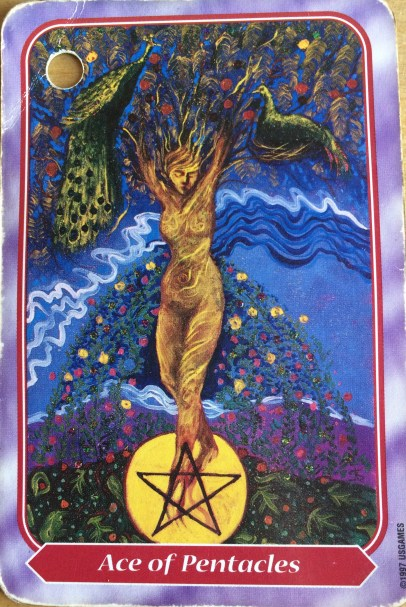Spiral Tarot Ace of Pentacles