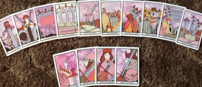 Aquarian Tarot in a Tin Swords