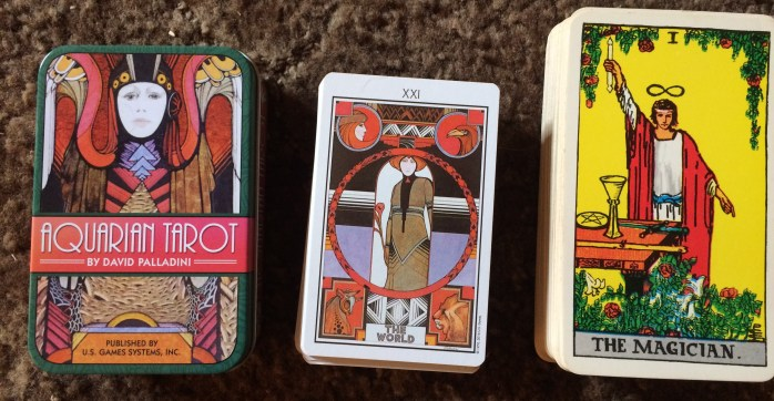 Aquarian Tarot in a Tin and Rider-Waite