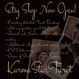 Buy A Tarot Reading from Me | Shop - Karma Star Tarot