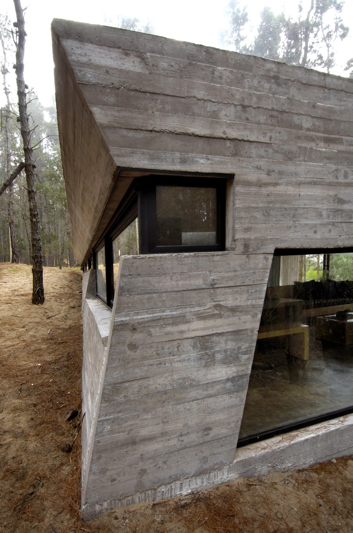 Concrete House In Mar Azul Forest By BAK Architects