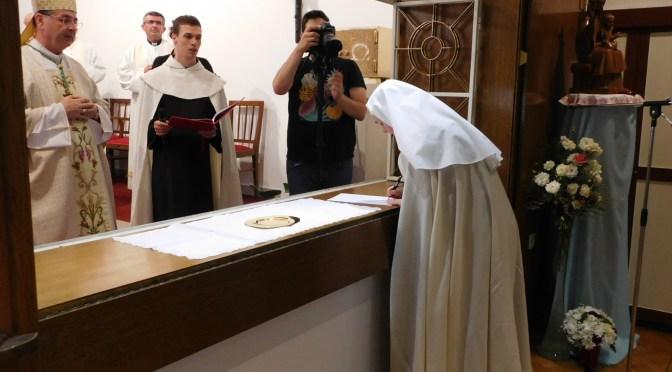 Svečani doživotni zavjeti s. Marije Agneze