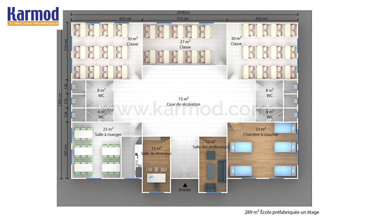 plans construction modulaire ecoles