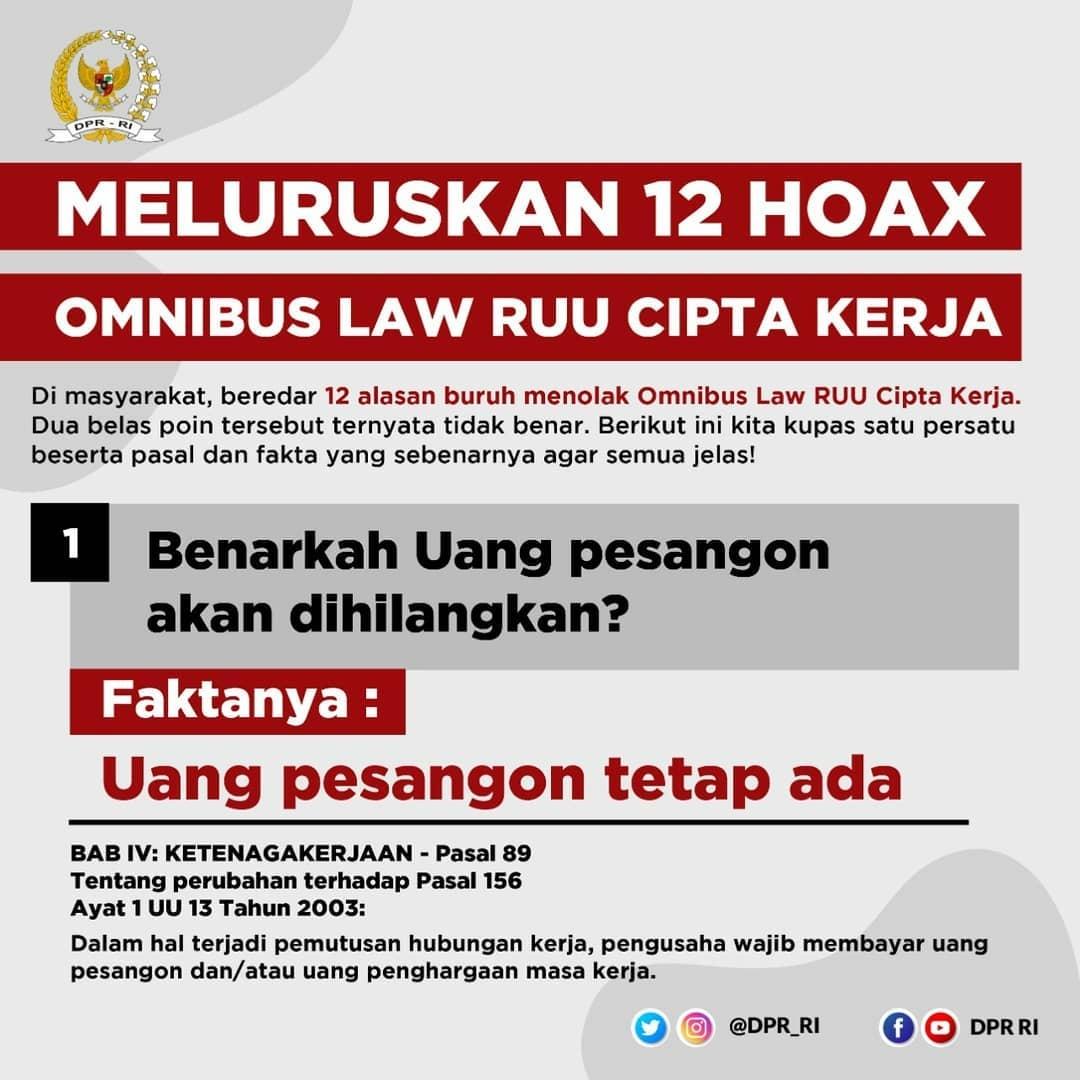Inilah 12 Hoax Omnibus Law Ruu Cipta Kerja Karna Id