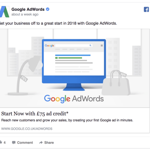 google ad example