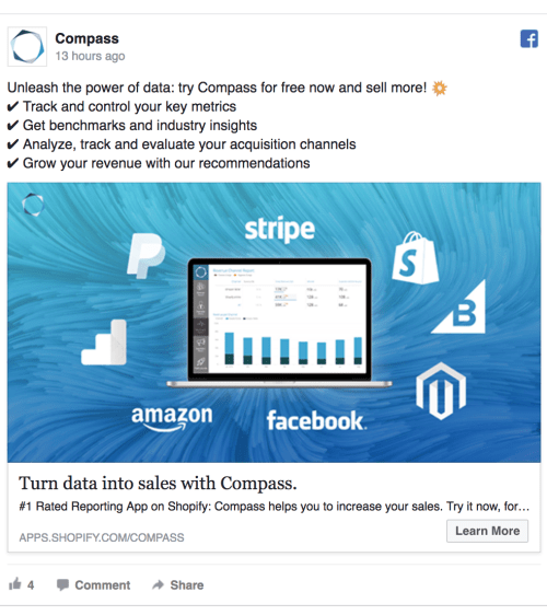 compass facebook ad template