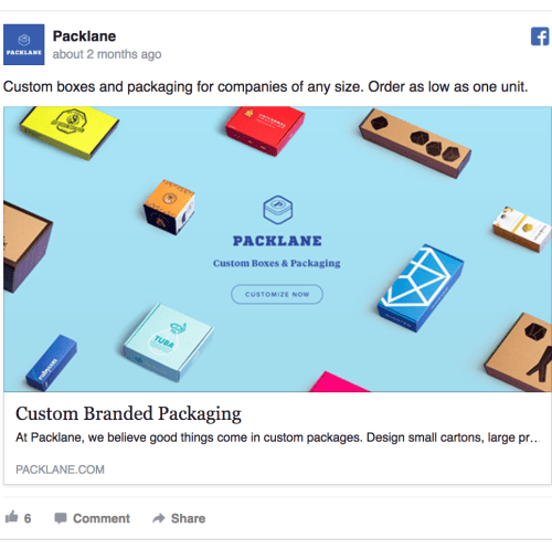 facebook ad template for ecommerce