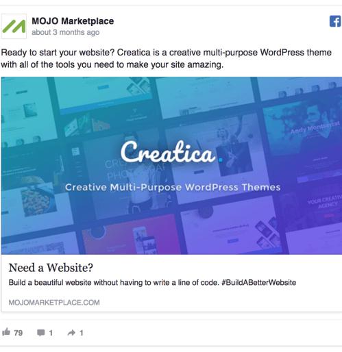 creatica facebook ad example