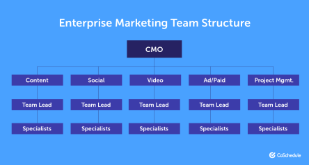 Marketing team structure