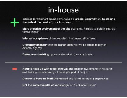 Agency vs inhouse marketing team