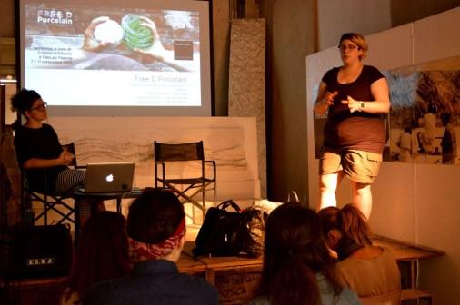 Explaining the workshop idea and techniques properties - Federica Patuelli and Cristina D'Alberto