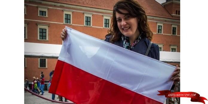 Sara with flag