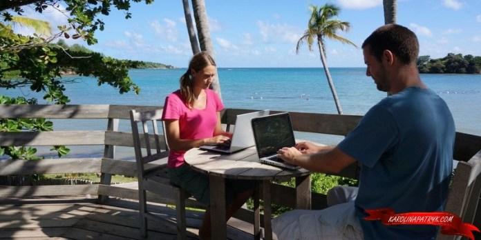 Blogging while pet sitting in Grenada