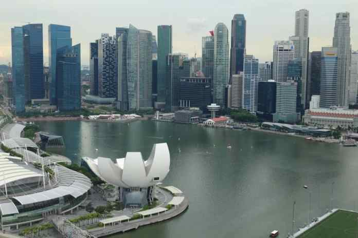 Singapore from the above