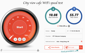 City view cafe speed test fast wifi Hanoi