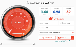 The seed speed test fast wifi Hanoi