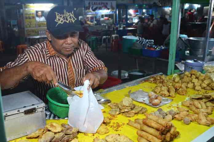 Trying local food while visiting Jakarta