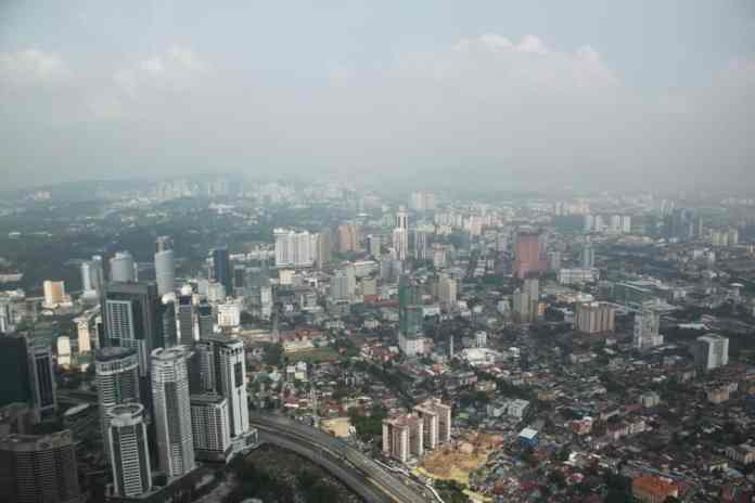 Big city from the above visiting jakarta