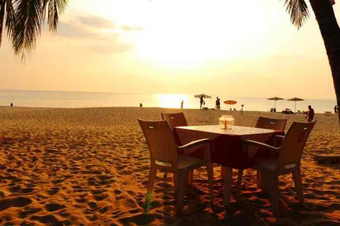 Sunset at Surin beach in Phuket