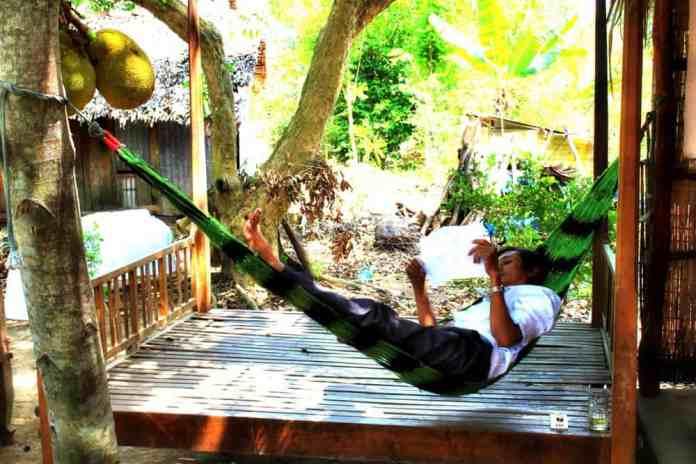 Relax in hammock in Vietnam