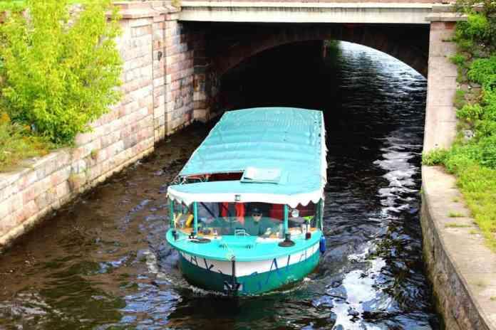Boat in Riga