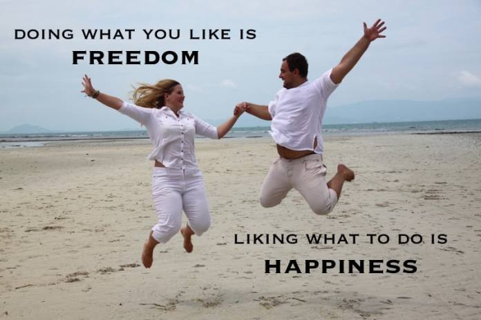 doing-what-you-like-is-freedom