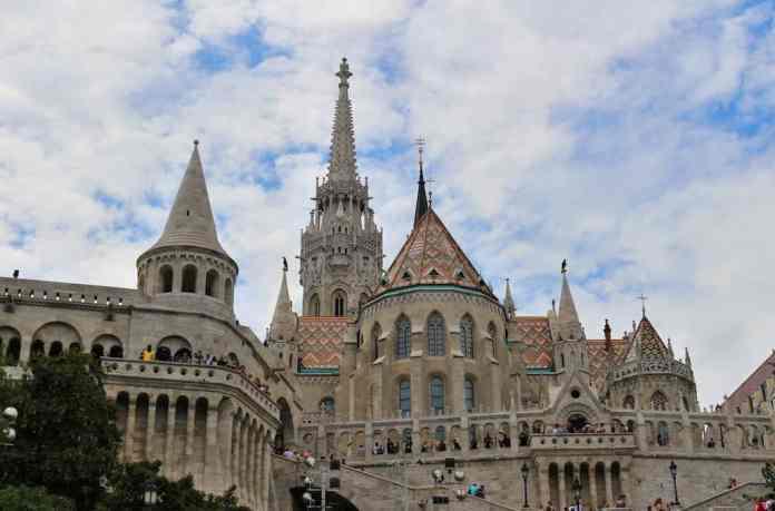 Fisherman's Bastion Budapest blue sky