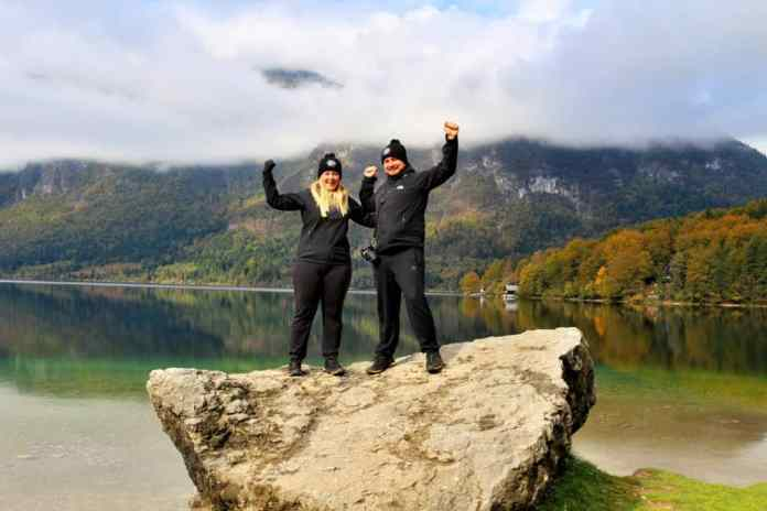 happy-bohinj-lake Julian Alps Slovenia