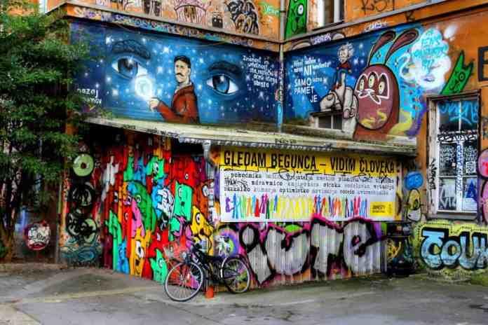 street-art-at-metelkova-street Slovenia facts