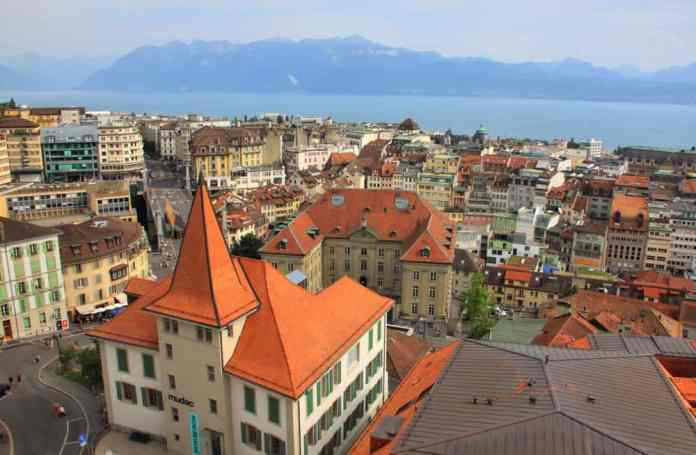 Lausanne view from the above