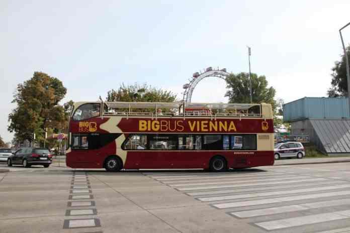 big bus vienna open deck ferris wheel street summer