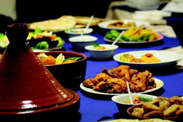 A table of Moroccan food