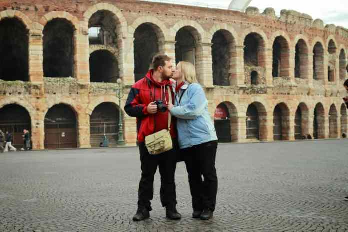 Nothing better than a kiss in Verona