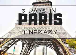 3 days in paris itinerary