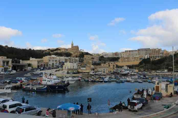 Gozo ferry terminal harbor