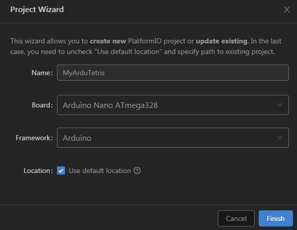 PlatformIO Project Wizard