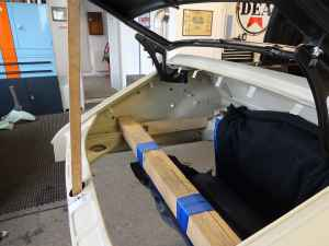 Karosserie-Restauration Porsche 911 Targa S (1963), Heck, Kofferraum