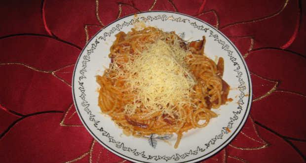 Különleges spagetti recept
