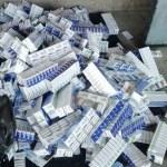 Több mint ezer csomag cigarettát találtak egy csempésznél