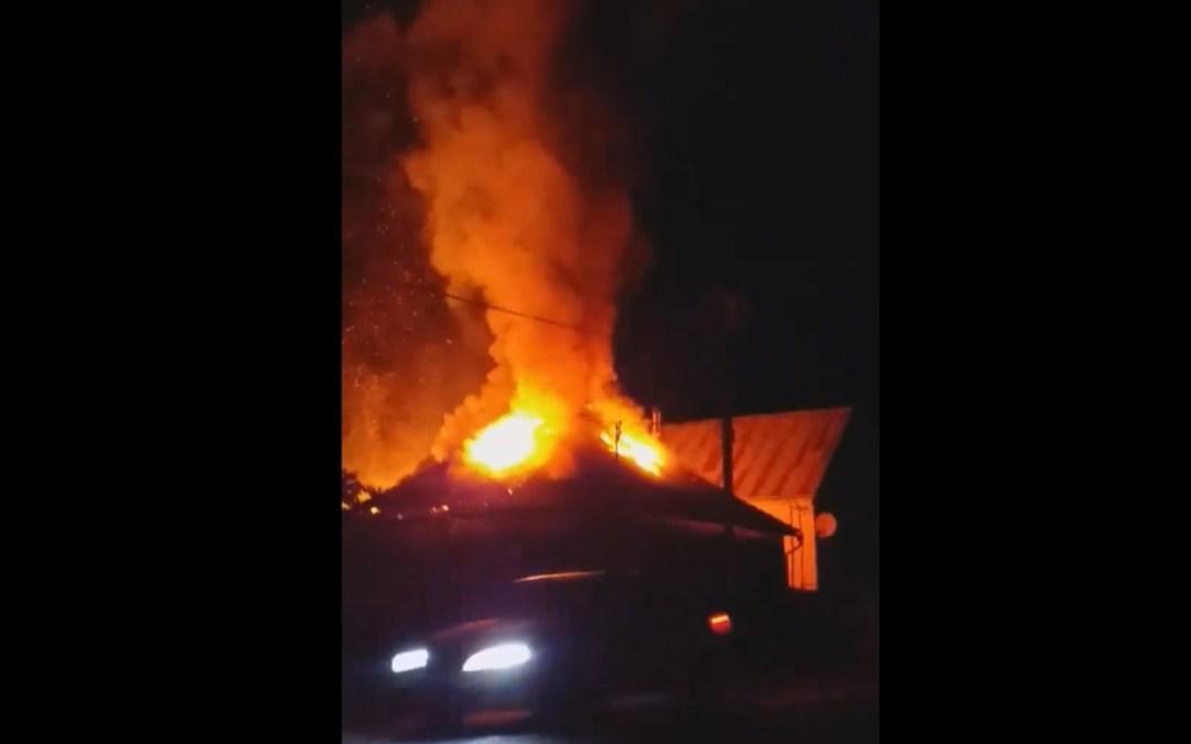 Kigyulladt egy ház a Szolyvai járásban