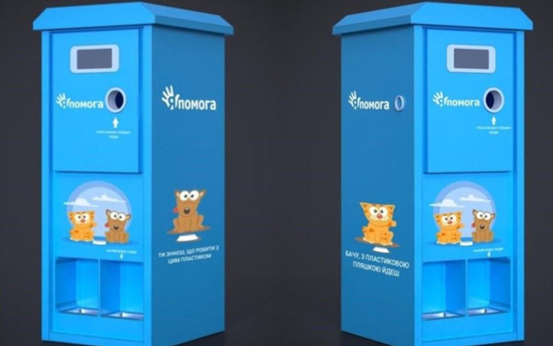 Műanyagot cserélnek állateledelre Kijevben