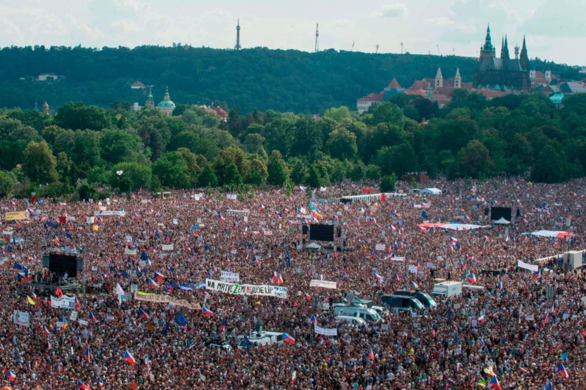 Prága tüntetés