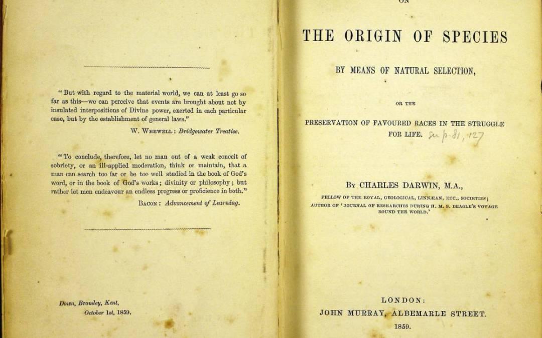 Elérhetővé vált egy részlet Darwin A fajok eredete című munkájából