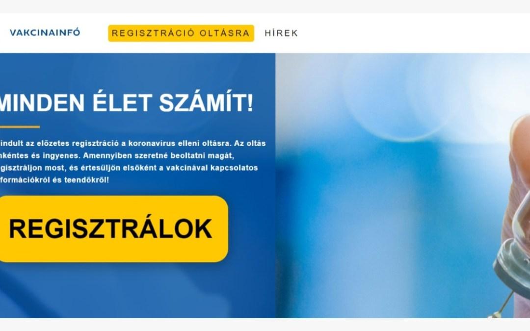 Holnaptól a Magyarországon élő külföldiek is regisztrálhatnak a védőoltásra