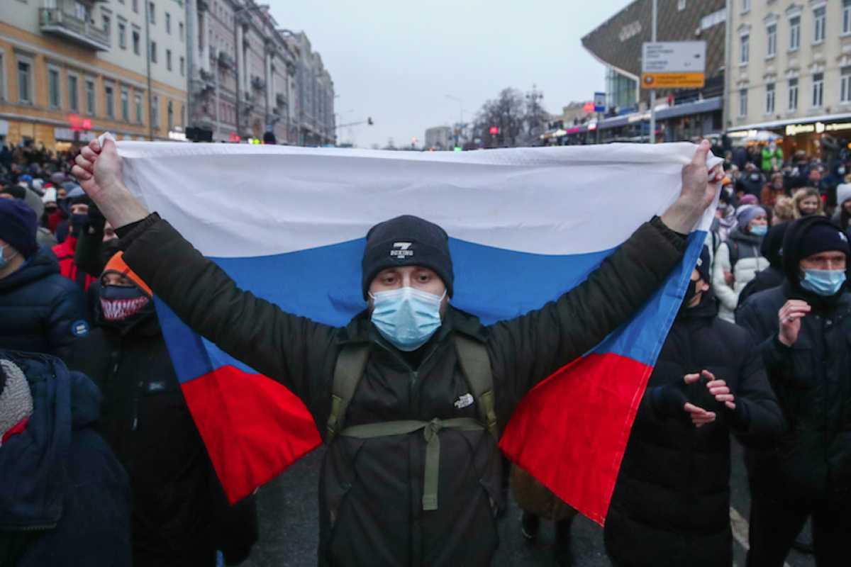 tüntetés Oroszország Navalnij Moszkva