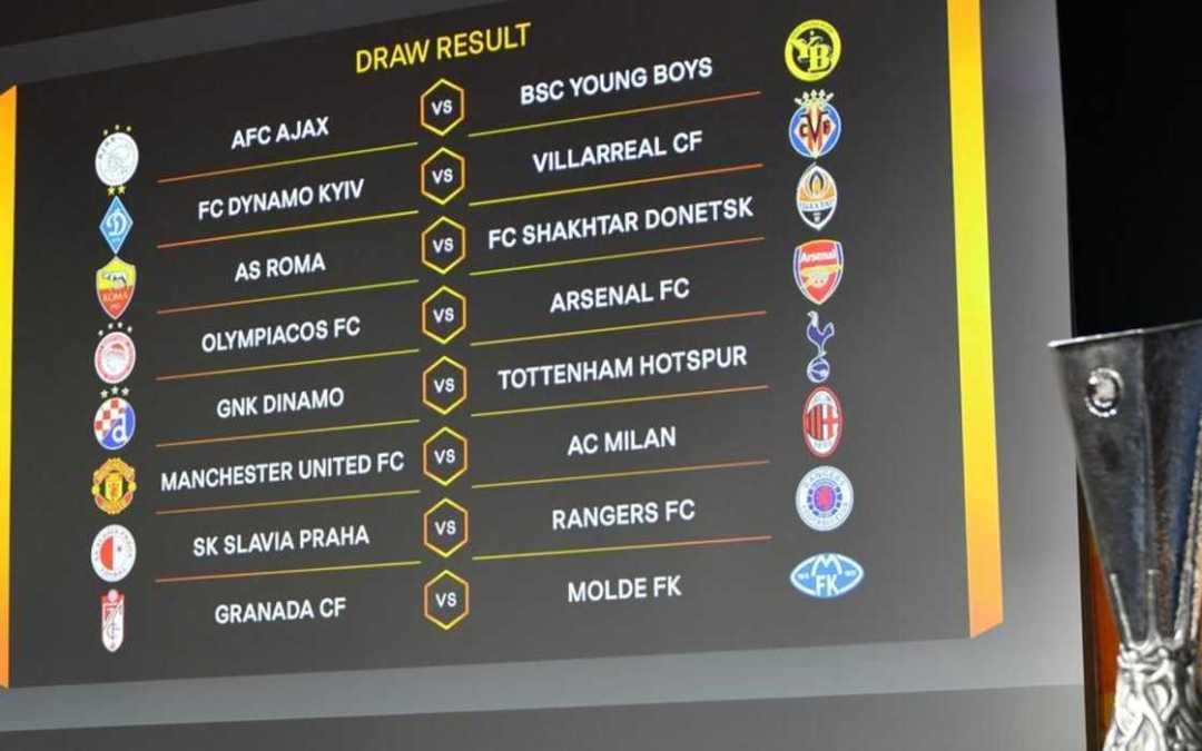 A Manchester United az AC Milannal, az Arsenal pedig az Olympiacosszal csap össze az Európa-liga nyolcaddöntőjében