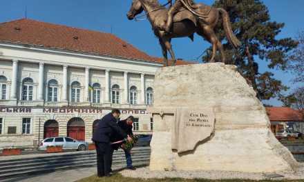 Покладання вінків в честь дня народження Ференца Ракоці