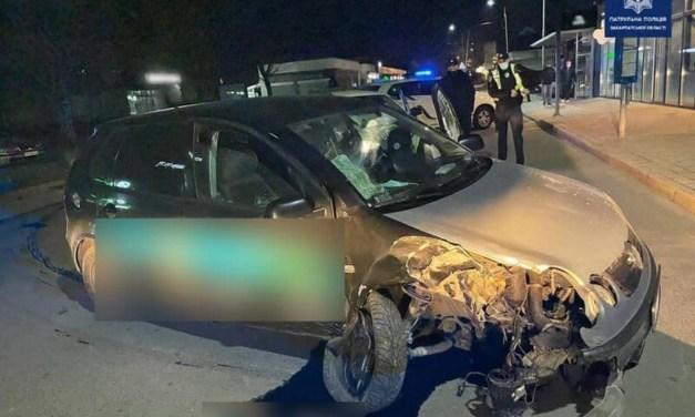 Ittas sofőr szenvedett balesetet Ungváron